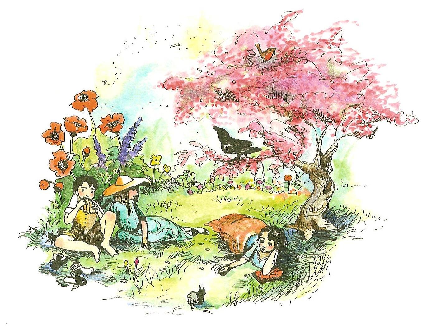 The Secret Garden Carmen Wood Illustration