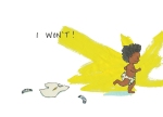 A child races away from their clothes Fantasy art Carmen Wood Illustration art