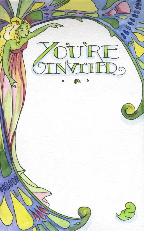 You're Invited Fairy Invite