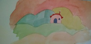 Pink house carmen wood illustration