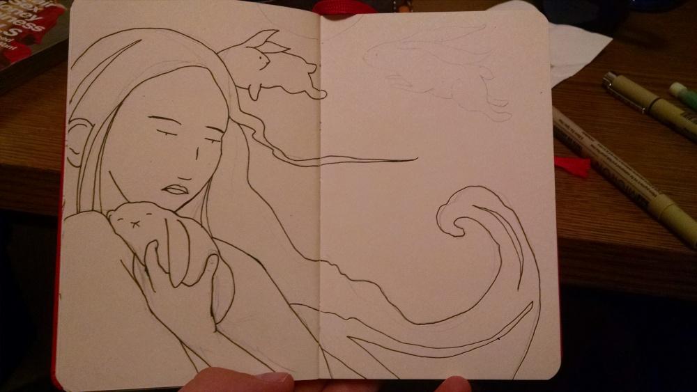 Sketch in Progress + Desk Friends (1/3)