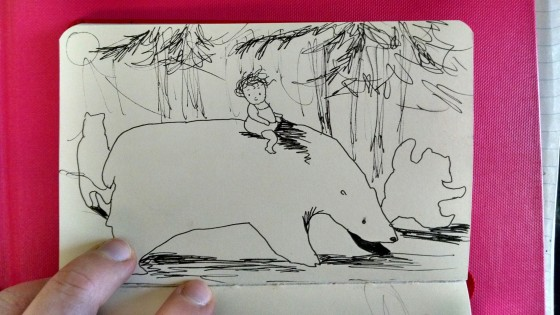 Bear Sketch Little Red Book