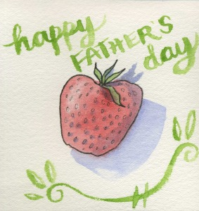 Strawberry Happy Father's Day for Online