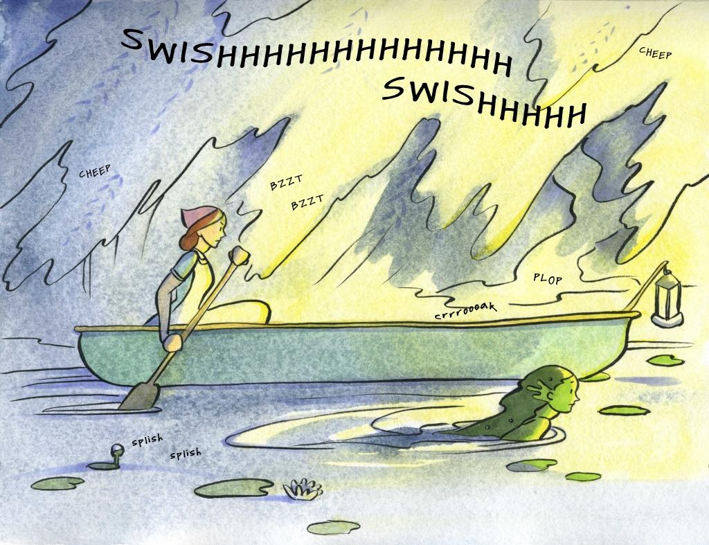 Mermaid Days Carmen Wood comic graphic novel webcomic mermaid art summer lake fantasy magic lgbtqia+ comic YA queer kidlit children's illustration illustrator
