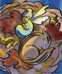 Fairy and Chipmunk Carmen Wood Illustration Minneapolis Minnesota comic art graphic novel children's illustration illustrator fantasy art webcomic fantasy magic lbgtquia+ kidlit