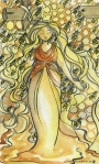Honey goddess and bees Carmen Wood Illustration Minneapolis Minnesota comic art graphic novel children's illustration illustrator fantasy art webcomic fantasy magic lbgtquia+ kidlit