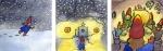 A gnome comes home to a cozy feast Carmen Wood Illustration Minneapolis Minnesota comic art graphic novel children's illustration illustrator fantasy art webcomic fantasy magic lbgtquia+ kidlit